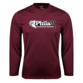 Performance Maroon Longsleeve Shirt-Formal Athletics Logo