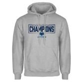Grey Fleece Hoodie-2018 Mens Basketball Champions - Box