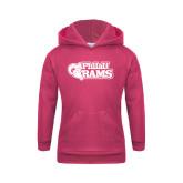 Youth Raspberry Fleece Hoodie-PhilaU Rams