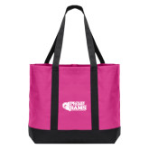 Tropical Pink/Dark Charcoal Day Tote-PhilaU Rams
