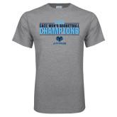 Grey T Shirt-2018 Mens Basketball Champions Stacked