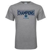 Grey T Shirt-2018 Mens Basketball Champions - Box