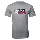 Grey T Shirt-PhilaU Rams