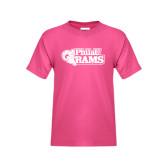 Youth Fuchsia T Shirt-PhilaU Rams