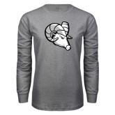 Grey Long Sleeve T Shirt-Ram Head