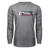 Grey Long Sleeve T Shirt-Formal Athletics Logo