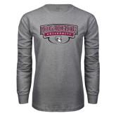 Grey Long Sleeve T Shirt-Philadelphia University Arched Shield