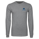 Philadelphia Grey Long Sleeve T Shirt-Primary Mark