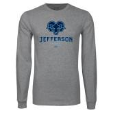 Philadelphia Grey Long Sleeve T Shirt-Primary Mark