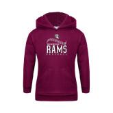Youth Maroon Fleece Hoodie-Philadelphia Rams Baseball Seam Design