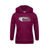 Youth Maroon Fleece Hoodie-PhilaU Rams