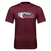Performance Maroon Tee-PhilaU Rams