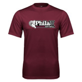 Performance Maroon Tee-Softball