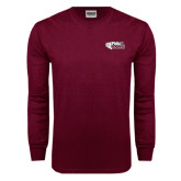 Maroon Long Sleeve T Shirt-PhilaU Rams