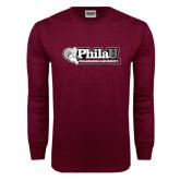 Maroon Long Sleeve T Shirt-Formal Athletics Logo