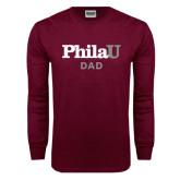 Maroon Long Sleeve T Shirt-Dad