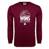 Maroon Long Sleeve T Shirt-One Thousand Wins