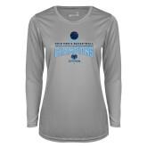 Ladies Syntrel Performance Platinum Longsleeve Shirt-2018 Mens Basketball Champions