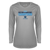 Ladies Syntrel Performance Platinum Longsleeve Shirt-2018 Mens Basketball Champions Stacked