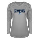 Ladies Syntrel Performance Platinum Longsleeve Shirt-2018 Mens Basketball Champions - Box