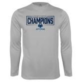 Performance Platinum Longsleeve Shirt-2018 Mens Basketball Champions - Box