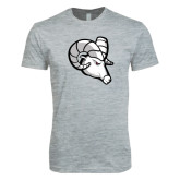 Next Level SoftStyle Heather Grey T Shirt-Ram Head