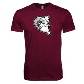 Next Level SoftStyle Maroon T Shirt-Ram Head
