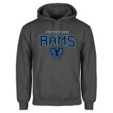 Charcoal Fleece Hoodie-Jefferson Rams