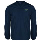 V Neck Navy Raglan Windshirt-Jefferson Rams
