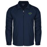 Full Zip Navy Wind Jacket-Jefferson Rams