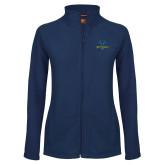 Philadelphia Ladies Fleece Full Zip Navy Jacket-Primary Mark