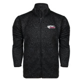 Black Heather Fleece Jacket-PhilaU Rams