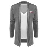 Ladies Heather Grey Open Front Cardigan-PhilaU Rams