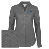 Philadelphia Ladies Red House Diamond Dobby Charcoal Long Sleeve Shirt-Primary Mark