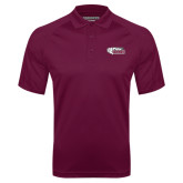 Maroon Textured Saddle Shoulder Polo-PhilaU Rams