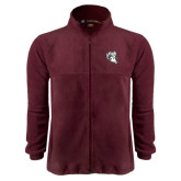 Fleece Full Zip Maroon Jacket-Ram Head