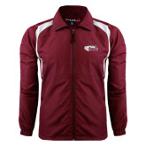 Colorblock Maroon/White Wind Jacket-PhilaU Rams