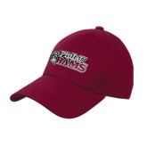 Maroon Heavyweight Twill Pro Style Hat-PhilaU Rams