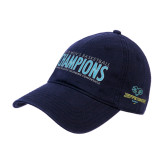 Navy Twill Unstructured Low Profile Hat-2018 Mens Basketball Champions