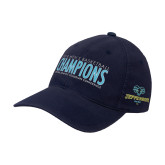 Navy OttoFlex Unstructured Low Profile Hat-2018 Mens Basketball Champions
