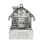 Pewter House Ornament-PhilaU Rams Engraved