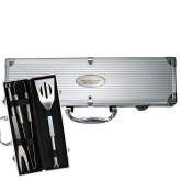 Grill Master 3pc BBQ Set-Philadelphia University Flat Engraved