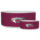 Ceramic Dog Bowl-PhilaU Rams