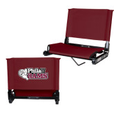 Stadium Chair Maroon-PhilaU Rams