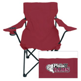 Deluxe Maroon Captains Chair-PhilaU Rams