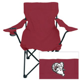 Deluxe Maroon Captains Chair-Ram Head