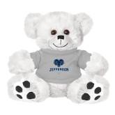 Philadelphia Plush Big Paw 8 1/2 inch White Bear w/Grey Shirt-Primary Mark
