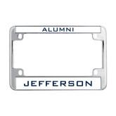 Philadelphia Metal Motorcycle License Plate Frame in Chrome-Alumni
