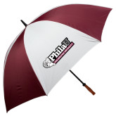 62 Inch Maroon/White Umbrella-Formal Athletics Logo