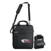 Kenneth Cole Black Vertical Checkpoint Friendly Messenger-PhilaU Rams
